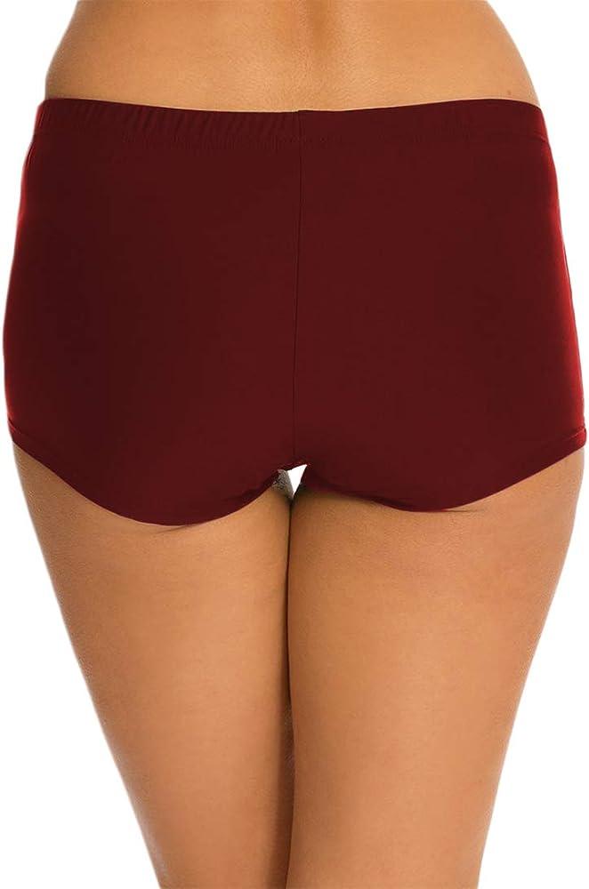 FBA Viqiv Womens Boy Leg Swimwear High Waist Tankini Bikini Bottom Swim Shorts Shortini