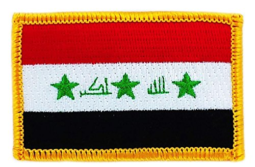 Toppa Ricamata Bandiera IRAQ Iraq iracheno Flag thermocollant Backpack Akacha
