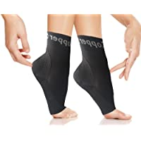 Copper Compression Gear Plantar Fasciitis Foot Sleeves/Support Socks - Reduce Swelling Speed up Recovery Get Instant Relief & Support! (1-Pair) (Large - Pair)