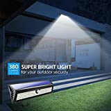 AMIR Solar Lights Outdoor, 77 LED Super Bright Motion Sensor Wall Lights, Wireless Garden Security Lights with 3 Modes, Waterproof & Auto On/ Off for Front Door, Garage, Patio, Yard, Pathway, Driveway