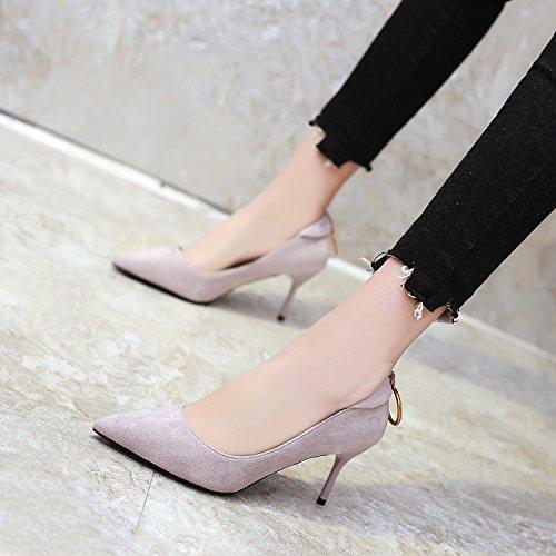 Bocca Una Ajunr scarpe Tacchi Alla Kaki Tutti Da poco Sandali trentanove con Scarpe 35 raffinata Moda match profonde alti Donna 9cm qXP41BcwX