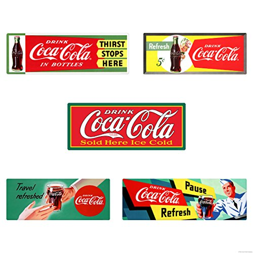 Retro Planet Drink Coca-Cola 1950s Soda Fountain Wall Decal Set of ()