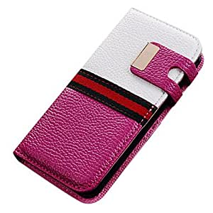 Faux Leather Wallet Flip Case Cover Magnet for Apple iPhone 5/5S(Assorted Colors) --- COLOR:Red