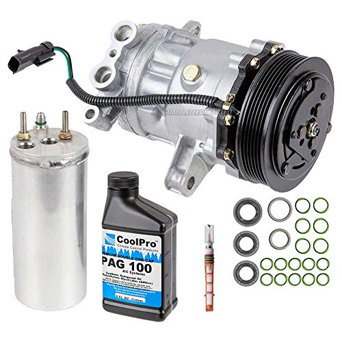 New AC Compressor & Clutch With Complete A/C Repair Kit For Dodge Dakota 4.7L - BuyAutoParts 60-80204RK New