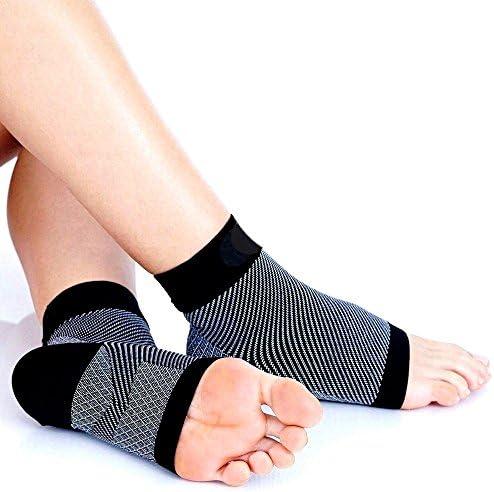 SiaMed® Kompressionssocken | Fußbandagen | Knöchelbandage für Plantarfasziitis und Fersensporn | Sport und Arbeit | Männer und Frauen (L/XL)