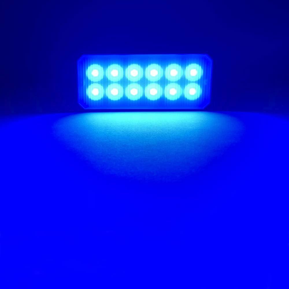 Universal 2pcs 12 LED Surface Mount Emergency Warning Hazard Flashing Strobe Light Bar for Truck Yifengshun LED Emergency Strobe Lights Bar Red/&White Off Road Vehicle ATVs,Motorcycle