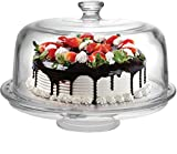 Circleware Sophisticate 6 in 1 Glass Cake Plate