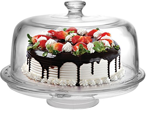 Circleware 54058 Bakery 6 in 1 Cake Plate with Dome 12