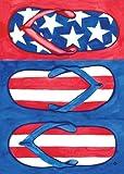 Toland Home Garden Patriotic Flips 12.5 x 18-Inch Decorative USA-Produced Garden Flag