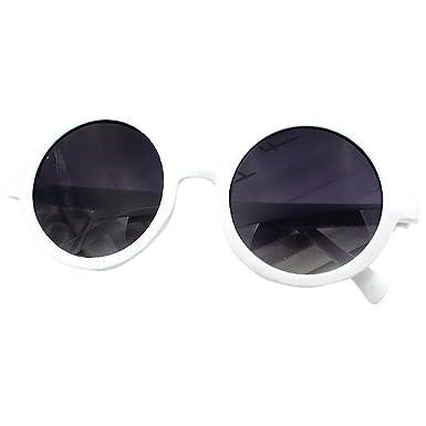 Lobzon Lunettes rondes en plastique pour Femme Vintage - blanc - ibXaZMVJtJ