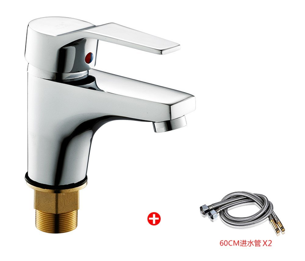 B Hlluya Professional Sink Mixer Tap Kitchen Faucet Bronze Two holes basin mixer basin cold water tap basin sink faucet single hole with high copper fittings,