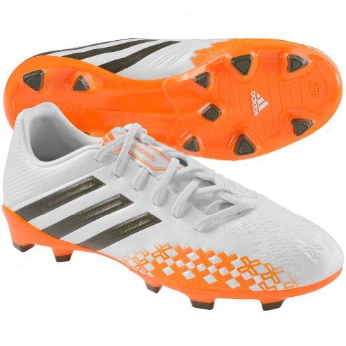 Adidas PREDATOR ABSOLADO LZ TRX FG CLE Soccer Cleat - Running White/Green - Boys - 5.5 - Absolado Trx Fg Soccer Shoe