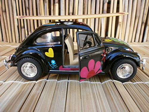 - 1967 Classic VW Peace & Love Bug Surfboard OLE Longboard FIN SURF Beach 1:32