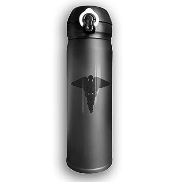 Amazon.com: Botella de agua de 500 ml con diseño de Aeskulap ...