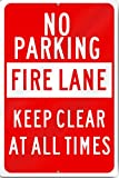 Fire Lane No Parking Tow Away Zone Metal Sign 12'' wide x 18'' tall Heavy Gauge Aluminum Reflective