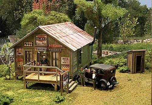 Blair Line Ho Scale Laser - Blair Line HO Scale Kit Laser-Cut Sam's Roadhouse