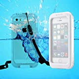 Pioneer Tech® Waterproof Diving Shockproof DirtProof SnowProof Protection Touch Screen Case Cover for Apple iPhone 5S 5 (WPC-White)