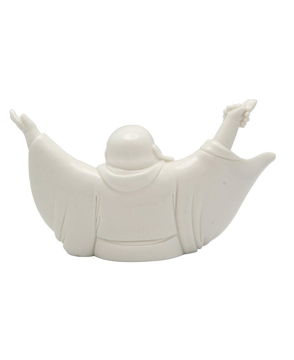 Cheering Happy Buddha Porcelain Statue