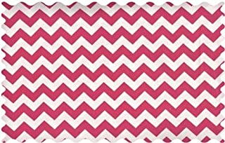 product image for SheetWorld Hot Pink Chevron Zigzag Fabric - By The Yard