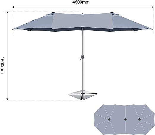 Taupe ombrellone con meccanismo di inclinazione e Protezione Solare UV50+ Ziigo Ombrellone da Giardino
