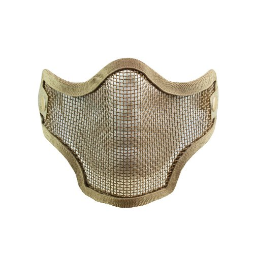 V-Tac 2G Wire Mesh Tactical Mask, Tan - Tan Mask