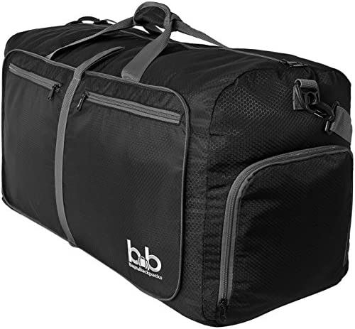 Extra Large Duffle Bag 100L – Packable Travel Duffel Bag for Women Men – Lightweight Luggage Bag Black