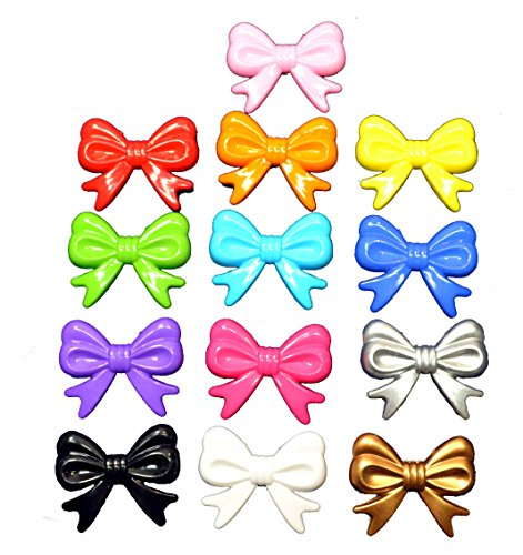 Bulk 52 pc. Mix of 45mm Acrylic Bow Bubblegum Beads in Solid Colors Chunky Gumball Bows