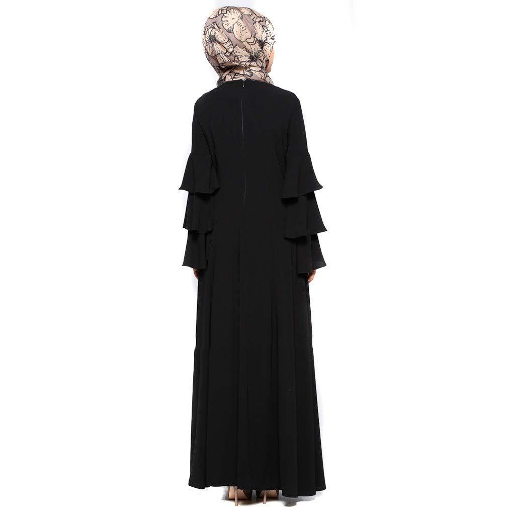 Femmes musulmanes en velours abaya robe longue broderie Caftan Jilbab Parti robe vintage