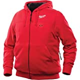 Milwaukee Hoodie M12 12V Lithium-Ion Heated Jacket Front and Back Heat Zones All Sizes and Colors - Battery Not Included - (Medium, Red)