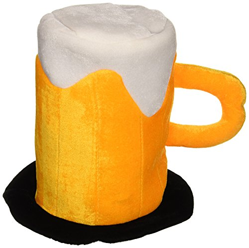 [Plush Beer Mug Hat Party Accessory (1 count)] (Oktoberfest Costumes Hat)