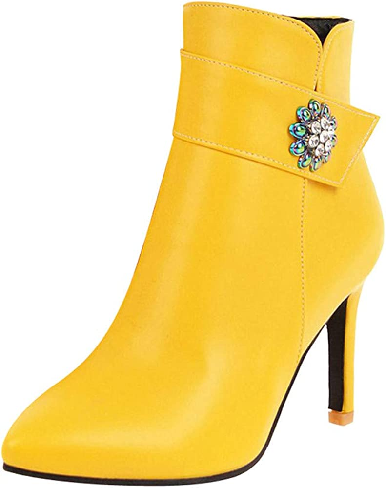 RBNB Chaussures Low Boots Femme Fermeture éclair Hiver