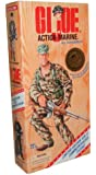 G.I. Joe Year 1995 World War II 50th Anniversary Commemorative Series with Individually Numbered Limited Edition 12 Inch Tall Soldier Action Figure - Action Marine with U.S. Marine Corps Uniform, Belt with Shoulder Strap and 4 Grenades, Canteen with Holder, Belt Pouch, Cap, Handknife with Leg-Strap Sheath, Boots, Dog Tag and Rifle (Hispanic Version)