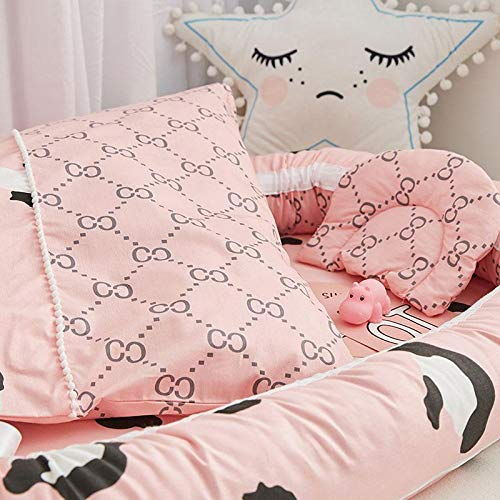 100/% Cotton Breathable Baby Bassinet Removable Cover Sweat Absorbing Baby Bed for Bedroom//Travel Womdee Baby Lounger Portable Soft Baby Nest Pillow Included