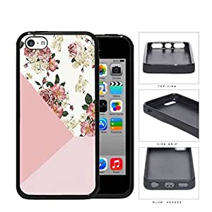 Vintage Pink Roses And Daisies Rubber Silicone TPU Cell Phone Case Apple iPhone 5cKimberly Kurzendoerfer