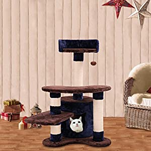 Hoddmimis Cat Tree Furniture Condos for Cats WBCT0045