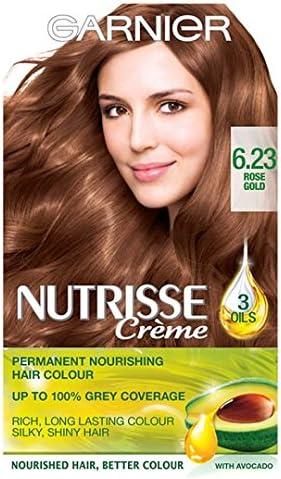Garnier Nutrisse crema permanente 8.32 6.23 oro rosa: Amazon ...