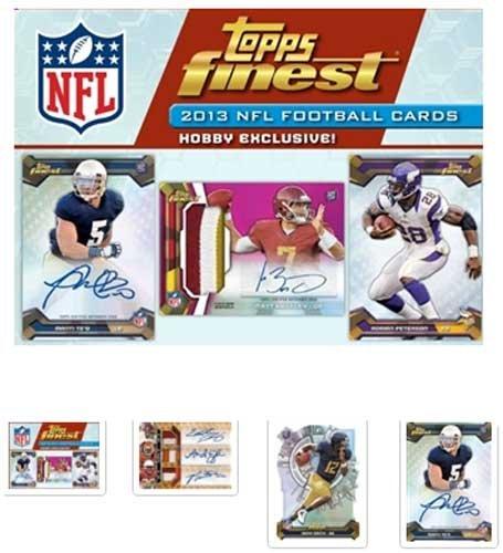 - 2013 Topps Finest Football Hobby Box (12 Packs / 5 Cards Per Pack)
