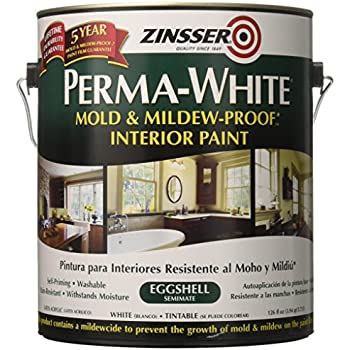 Perma white mold and mildew proof interior paint eggshell - Eggshell paint in bathroom ...