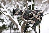 ROLANPRO Rain Cover Raincoat for Telephoto Lens Rain Cover/Lens Raincoat Army Green Camo Guns Clothing XS