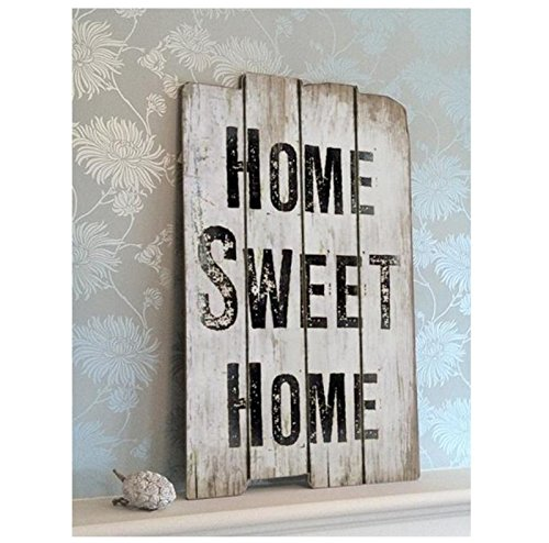 Pared de imagen - Home Sweet Home - cartel en Antiguo Madera ...