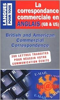 La correspondance commerciale en anglais