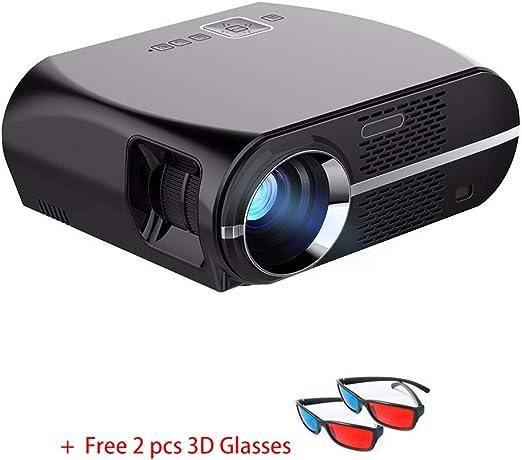 Proyector de Video, 3200 ml Soporte para proyector de Cine en casa ...