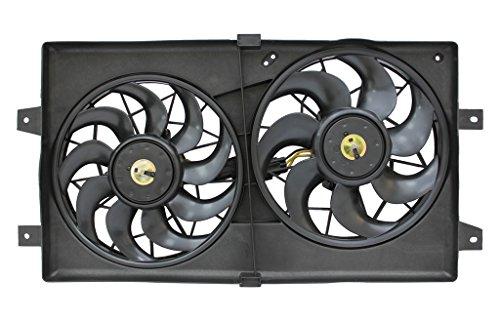 Cyl Cooling 6 Radiator Fan (Tong Yang FAN-DG66007A Replacement Radiator/Condenser Cooling Fan Assembly 01'-06' DG STRATUS/SEBRING SEDAN 4/6CYL 2.4/2.7L(FAN-DG66007A))