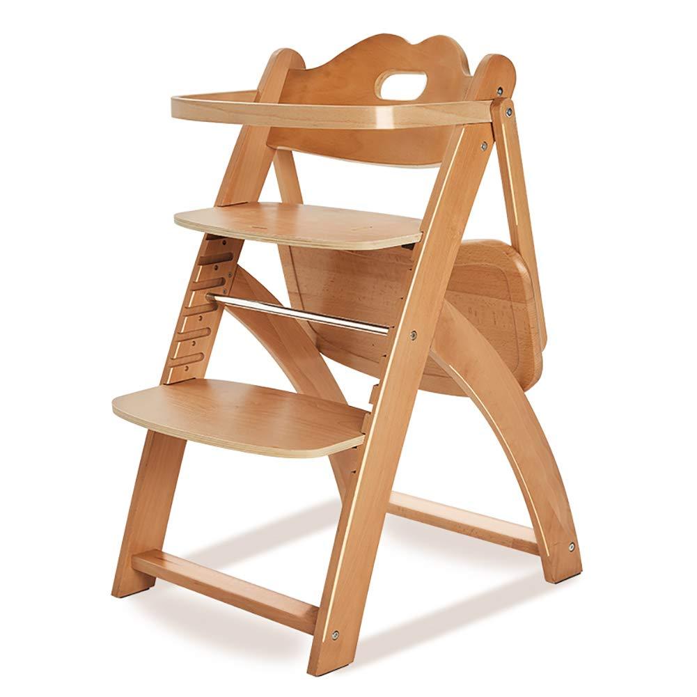 ベビーチェア 木製のハイチェアベビー摂食ダイニングチェアポータブル食べる席、座ることを学ぶ   B07GJ251N4