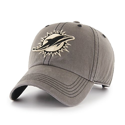 NFL Miami Dolphins Deck Hand OTS Challenger Adjustable Hat, Charcoal, One Size ()