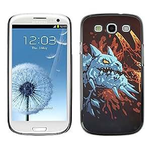 Caucho caso de Shell duro de la cubierta de accesorios de protección BY RAYDREAMMM - Samsung Galaxy S3 - Dragón azul