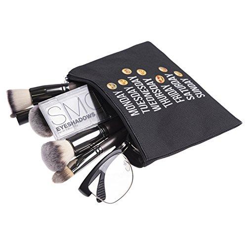 Simple Divers Impression Kukubird Black À Sac Emoji Sac Poussière Maquillage Week Avec ZEqwqOxT