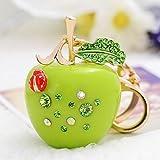kaige Key chain Diamond small Apple keychain fashion girl