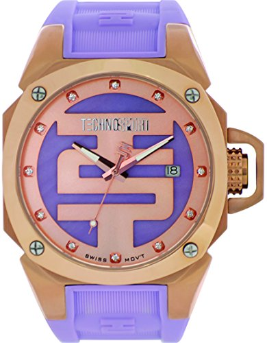 technosport-ts-102-8-womens-lavender-silicone-band-gold-bezel-40mm-lavender-and-gold-dialstainless-s