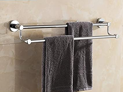 Accesorios de baño Yomiokla - Toalla de metal para cocina, inodoro, balcón y bañoRetro